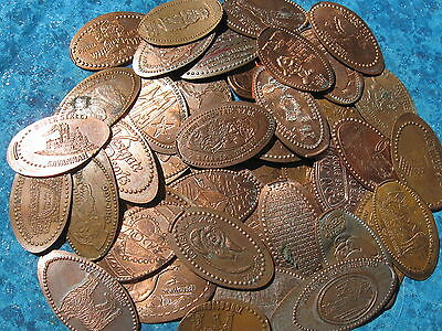 101 Elongated Penny Pressed Smashed Pennies Animals Disney Cities Etc 100 500