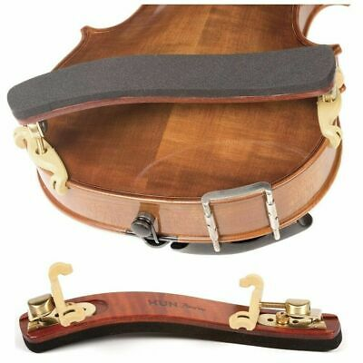 Kun Bravo Viola Collapsible Shoulder Rest - Maple with Brass Fittings