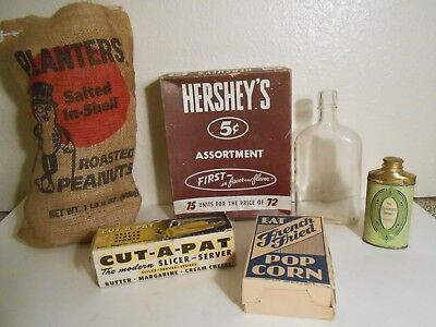 Vtg. Grocery General Store Advertising Items - Hershey`s,Planters,Colgate,& More