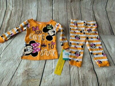 Halloween Pajamas 12 month Sleepwear 2 p New with tags Disney Baby Mickey Mouse