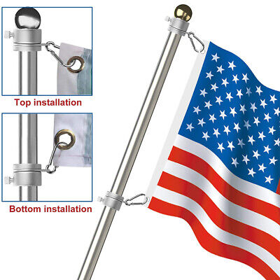 US Alloy Metal Flag Pole Flagpole Rotating Rings Clip Anti Wrap Grommet Mounting