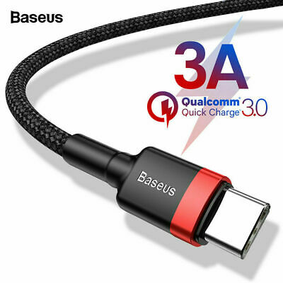 QC3.0 USB Type C Fast Charging Cable 3A Samsung Galaxy S8 S9 S10 Note 10 Plus