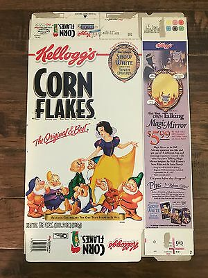 "2001 (Kellogg's) ""CORN FLAKES"" Cereal Box, (Snow White & Seven Dwarfs), RARE!"