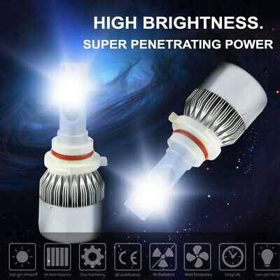 9005 COB LED Headlight Kit Bulbs 3800W 570000LM H10 HB3 6000K Foglight Lamp Bulb
