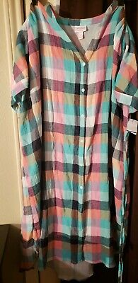 0628eeebca68c TARGET Ingrid & Isabel Maternity Plaid Dolman Tie Waist Shirt Dress  Multi-Color