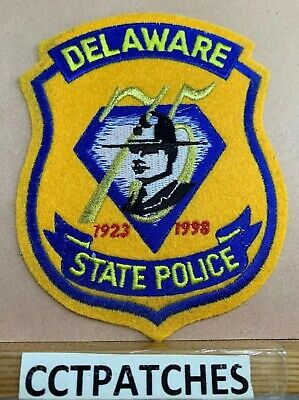 DELAWARE STATE POLICE 75Th Anniversary (Felt) Shoulder Patch