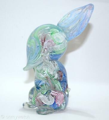 FINE Vtg MURANO 🇮🇹 Rabbit BUNNY ArT GLaSs Italy LATTiCiNO Scramble ZANFiRiCO