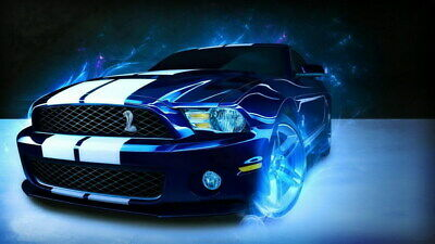 "012 Mustang - Ford Super Car Racing Car concept 24""x14"" Poster"