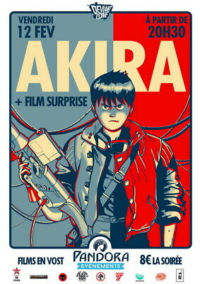 "063 Akira - Red Fighting Hot Japan Anime 14""x19"" Poster"