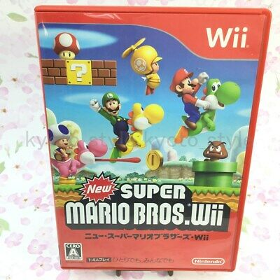 USED Nintendo Wii New Super Mario Bros. Wii Normal Edition 18078 Japan Import