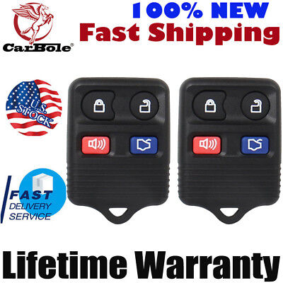 Top 2X Keyless Entry Remote Control Car Key Fob Clicker Transmitter Replacement