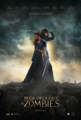 Lily James Pride and Prejudice and Zombies Orig 27x40 DS Movie Poster Sam Riley