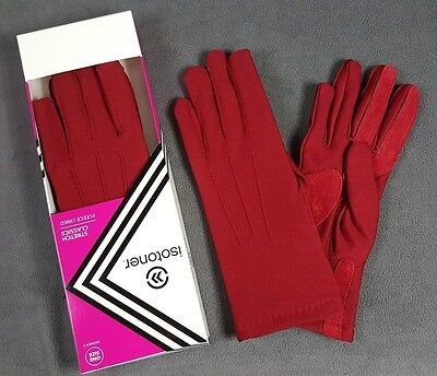 NIB Isotoner Womans Classic Warm Lined Gloves Winter RED GOLD GRAY NEW IN BOX