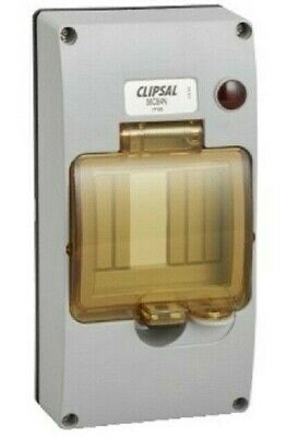 Clipsal DIN RAIL MOUNTING COVER 190x95x50mm 4-Module, Neon, Chemical Grey