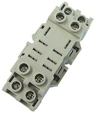 Idec FINGER SAFE RELAY SOCKET 8-Pins 2-Poles Screw Connection, DIN Rail Mounting