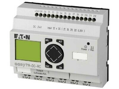 Moeller CONTROL RELAY 90x107.5x58mm 8A 24V DC 12-Inputs 6-Outputs LCD Display