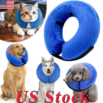 Protective Inflatable Collar Dogs Cats Soft Pet Recovery Collar Block E-Collar