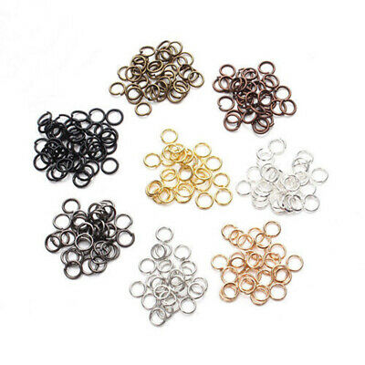 Mixed Size 4/5/6/7/8/10mm Stainless Steel Open Jump Rings For Jewelry DIY Making