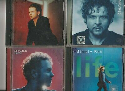 Simply Red Collection Job Lot 4 CD Albums / Life / home / Blue / Greatest Hits