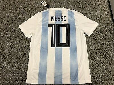size 40 0c455 02801 2018 ARGENTINA LIONEL Messi Jersey Shirt Kit L Large Adidas New World Cup  Home