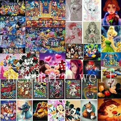 Disney Characters Full Drill DIY 5D Diamond Painting Embroidery Cross Stitch AU
