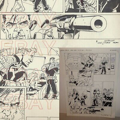 JUDGE DREDD  2000 AD The Pit ORIGINAL ARTWORK page 1 by LEE SULLIVAN issue 981