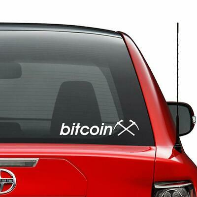 """6/"""" Bitcoin Miner Currency crypto decal graphic car SUV bumper sticker"""