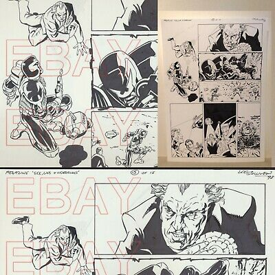 2000 AD JUDGE DREDD  Megazine ORIGINAL ARTWORK  by LEE SULLIVAN L@@K  Sex Lies