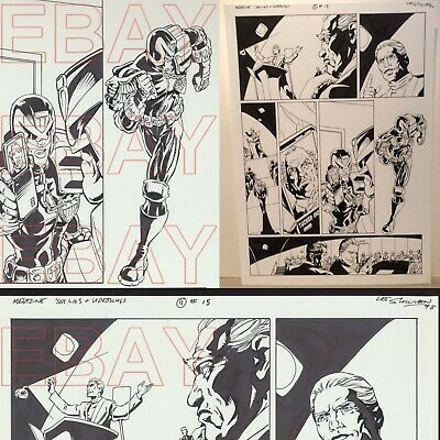 2000 AD JUDGE DREDD  Megazine ORIGINAL Sex Lies ARTWORK  by LEE SULLIVAN L@@K