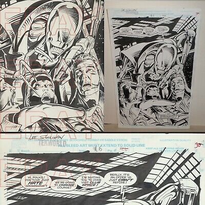 MARVEL comics WILLIAM SHATNER TEKWORLD  Alien  page ORIGINAL ARTWORK space Jack