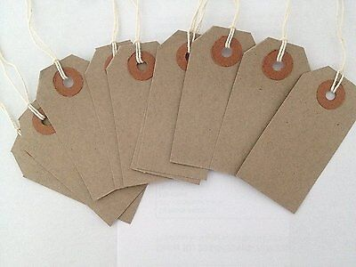 Strung Manilla Buff Luggage Labels Bag Tie Craft Wedding Brown Card Gifts String
