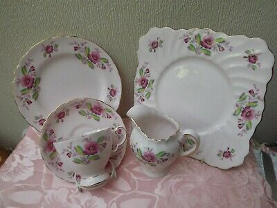 Tuscan pink china floral Job Lot - Bone china Made in England no 9223H