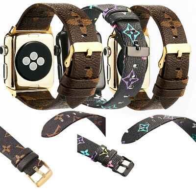 Luxury New Grid Strap Leather Watch Band Bracelet For iWatch Series 5 4 3 2 1