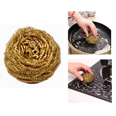 Multi-use Wire Brass Soldering Iron Tip Cleaning Ball Home Kitchen Cleaner 5pcs