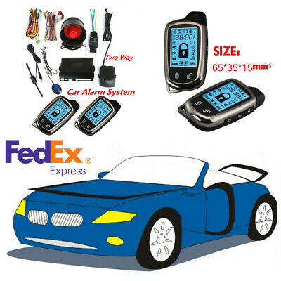2Way Pager Car Security Alarm System Keyless Entry+LCD Display Remote Anti-theft
