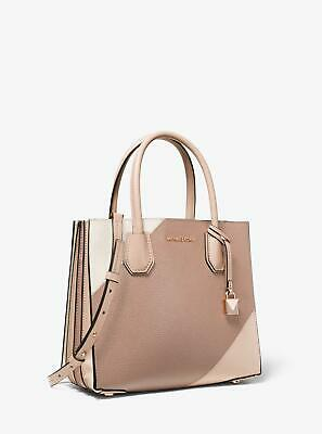 aa93ba235035 NEW Michael Kors Mercer Medium Tri-color Leather Accordion Tote Bag