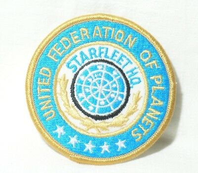 Star Trek TOS Starfleet H.Q. United Federation of Planets embroidered Patch New