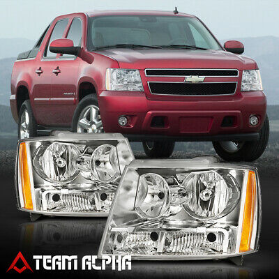 Fits 2007-2014 Avalanche/Suburban/Tahoe[Chrome/Clear]Amber Corner Headlight Lamp