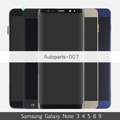 For Samsung Galaxy Note 3 4 5 8 9 LCD Touch Screen Digitizer+Frame Assembly LOT
