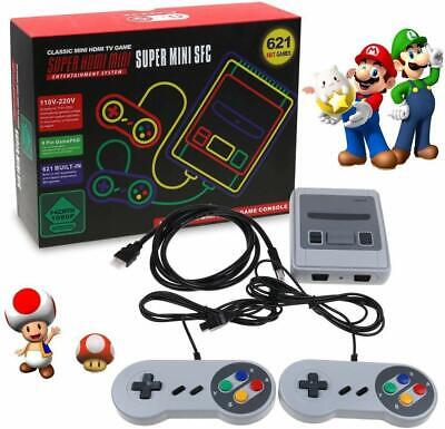 621 Giochi in 1 Classic Mini NES Game Console Retro TV HDMI+2 Controller Gamepad