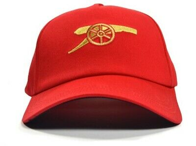 cd0aaafd573ad Arsenal Football Club Official Gold Gunner Cannon Red Cap Badge Crest One  Size
