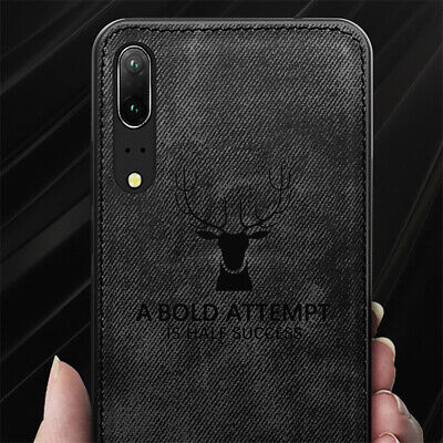 Shockproof Fabric Deer Texture TPU Phone Cover Case For Huawei P30/P30 Pro