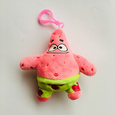 spongebob pink Patrick Star stuffed plush doll key chain ornament keyring new