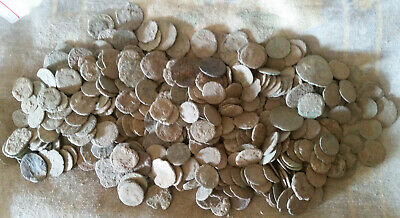 Uncleaned Roman coins - 50 PIECES -100% authentic coins.