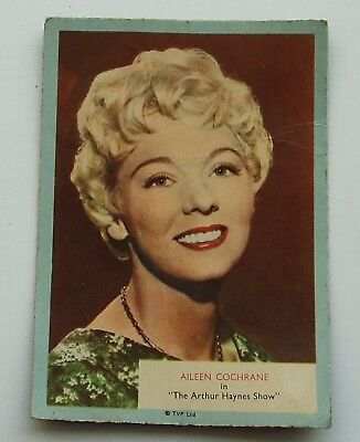 A&BC Gum Card, Who-Z-At Star? No.22 AILEEN COCHRANE in The Arthur Haynes Show