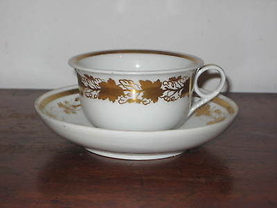 Early 19Th Century Continental Porcelain Cup & Saucer Bowl