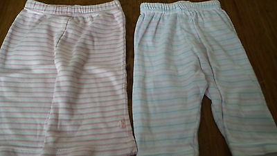 Girls Striped Trousers from M&S and Mothercare age 0-3 months