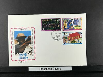 Anguilla FDC 15 Jan 1979 International Year of Child Church Paintings