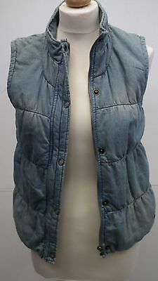 Girls Distressed Light Denim Style Body Warm/Gilet From Limited Collection M&S s