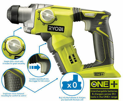 Ryobi ONE+ 18V Cordless SDS+ 3 Mode Rotary Hammer Drill (Body Only) - R18SDS